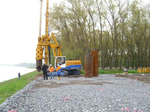 Geotechnische Begleitung von Bohrpfählen an der Elbebrücke Schönebeck
